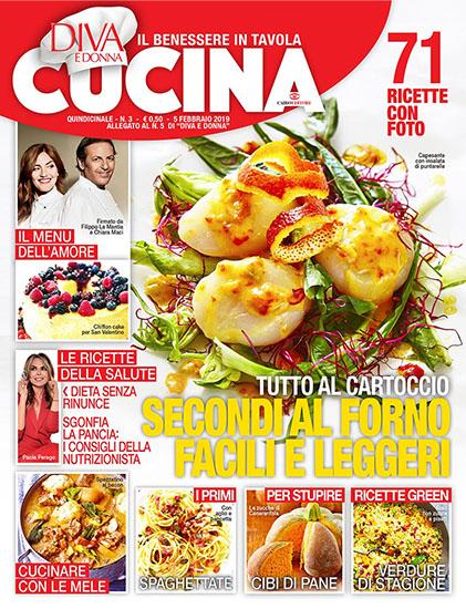 Diva Cucina n.3 del 5 febbraio 2019 - allegato Diva e Donna n.5 - rassegna stampa - Prof. Nicola Sorrentino