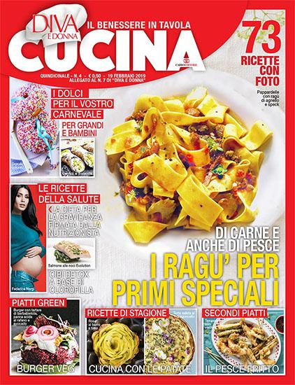 Diva Cucina n.4 del 19 febbraio 2019 - allegato Diva e Donna n.7 - rassegna stampa - Prof. Nicola Sorrentino