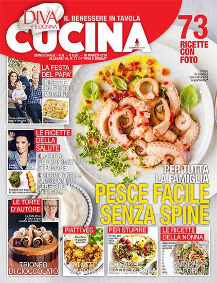 Diva Cucina n.6 del 19 marzo 2019 - allegato Diva e Donna n.11 - rassegna stampa - Prof. Nicola Sorrentino