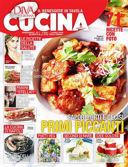 Diva Cucina n.7 del 2 aprile 2019 - allegato Diva e Donna n.13 - rassegna stampa - Prof. Nicola Sorrentino