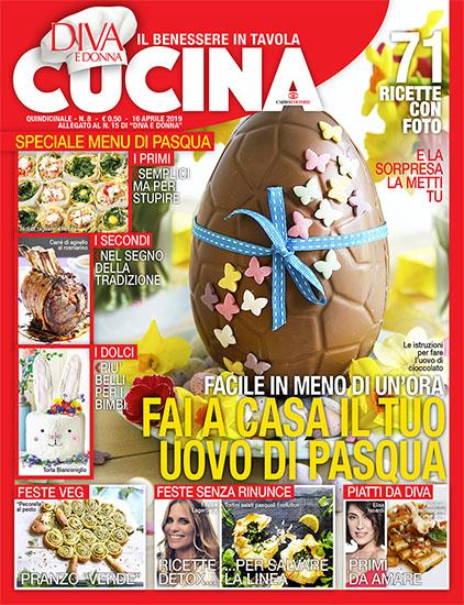 Diva Cucina n.8 del 16 aprile 2019 - allegato Diva e Donna n.15 - rassegna stampa - Prof. Nicola Sorrentino