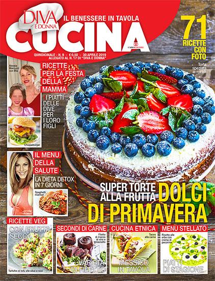 Diva Cucina n.9 del 30 aprile 2019 - allegato Diva e Donna n.17 - rassegna stampa - Prof. Nicola Sorrentino