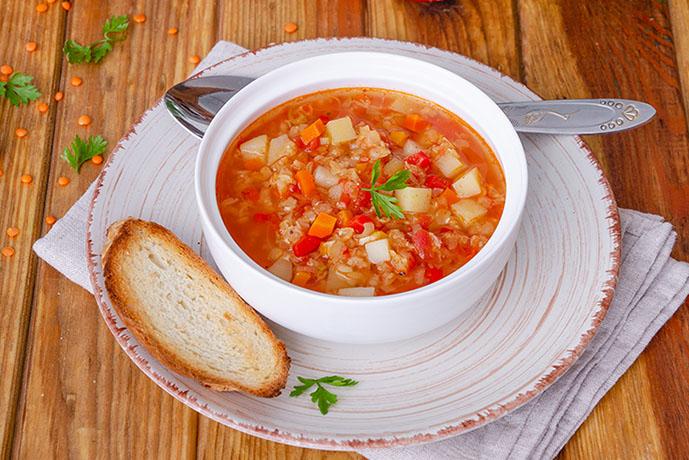 Zuppa di verdure con pane - Prof. Nicola Sorrentino
